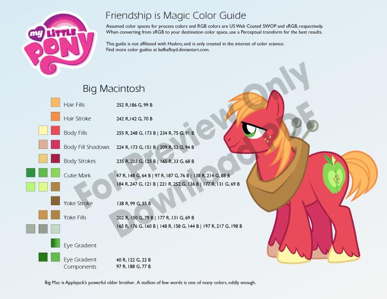 Big Macintosh Color Guide by kefkafloyd on DeviantArt