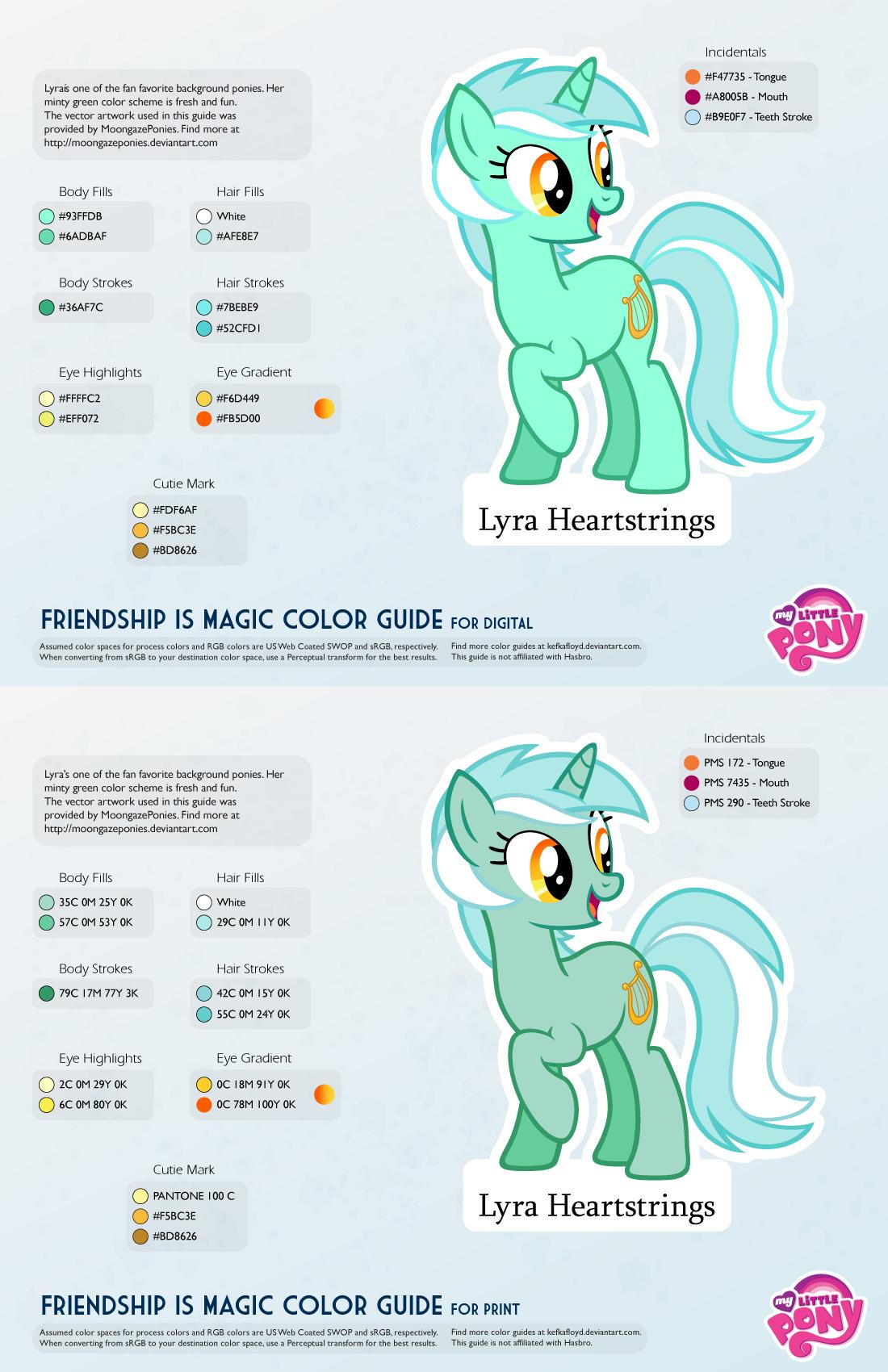 Lyra Heartstrings Color Guide by kefkafloyd