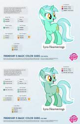 Lyra Heartstrings Color Guide