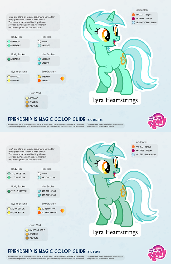 Pages rgb color - Lyra Heartstrings Color Guide By Kefkafloyd