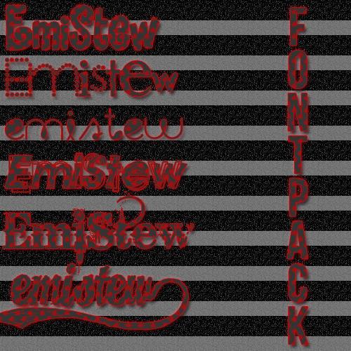 Pack de fonts by EmiStew