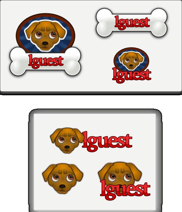 lguest labrador puppy logo