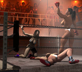 2,100,000 DA HITS:Dark Side Of Female Boxing by drewhammond