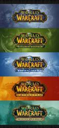 World of Warcraft Expansion All LOGO PSD by youtubi