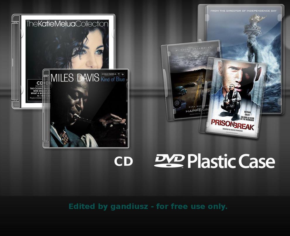 CD DVD Case psd xcf SOURCE by gandiusz