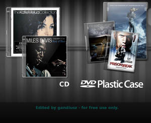 CD DVD Case psd xcf SOURCE