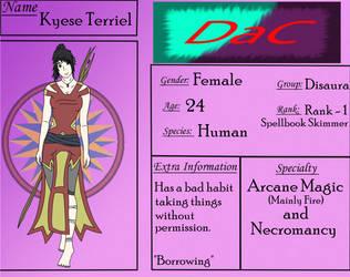 DaC App: Kyese Terriel by CromaSins45