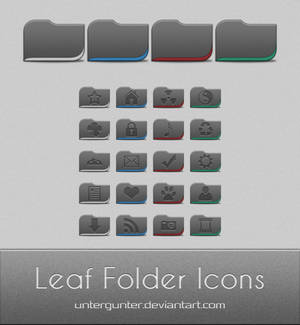 Leaf Folder Icons