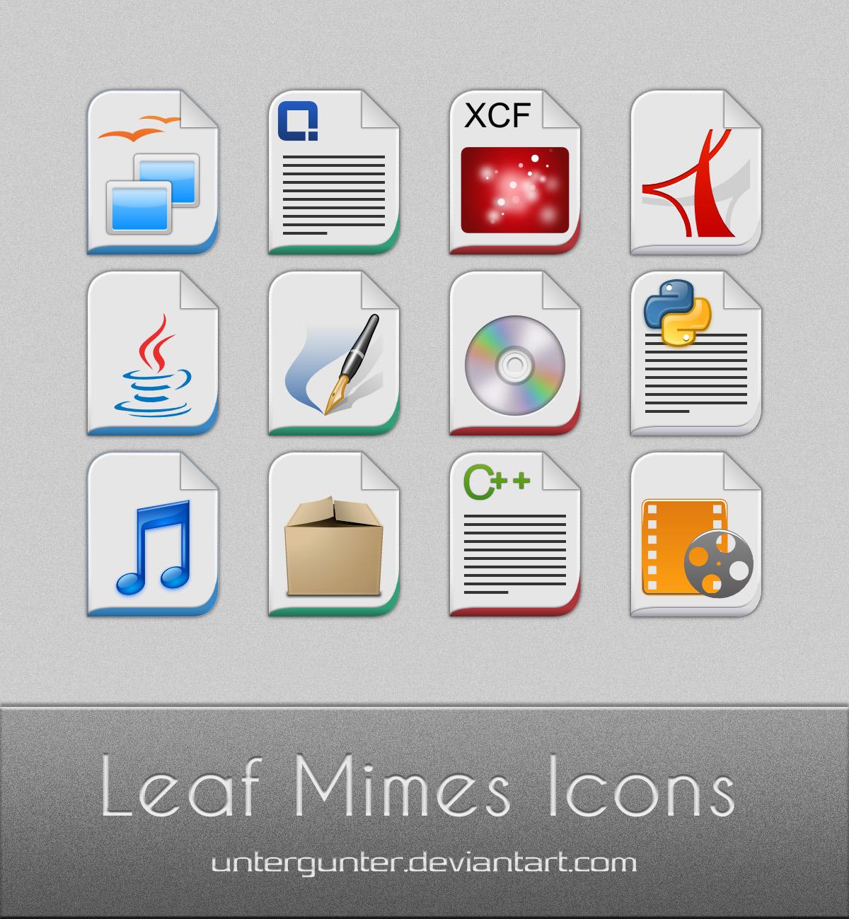 Leaf Mimes Icons