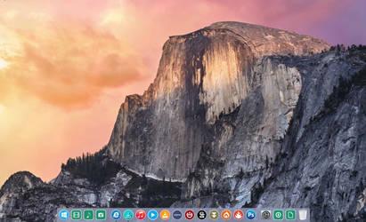 Yosemite Dock For Xwindows Dock 5.6 In 2D by meridiusuk
