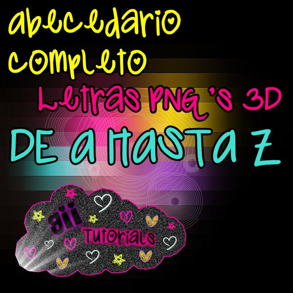 Pack Letras PNG 3D by GiiEditions on DeviantArt