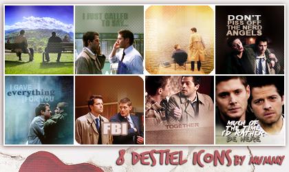 8 Destiel Icons :1: by mummy16