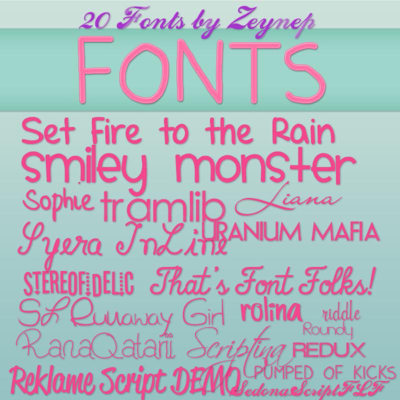 Download Font Pack by Selenatorxoxo on DeviantArt