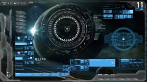 Blue Tech Future Tech Rainmeter Zerox Project