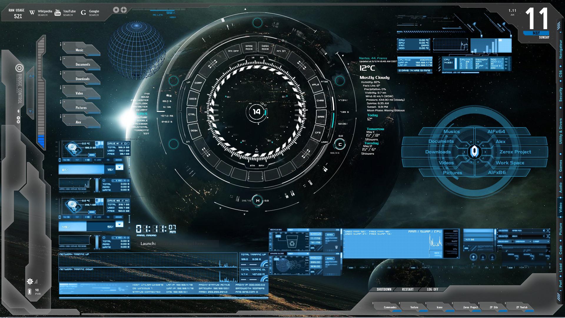 Blue Tech Future Tech Rainmeter Zerox Project by ...