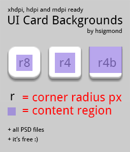 Android UI Card Backgrounds
