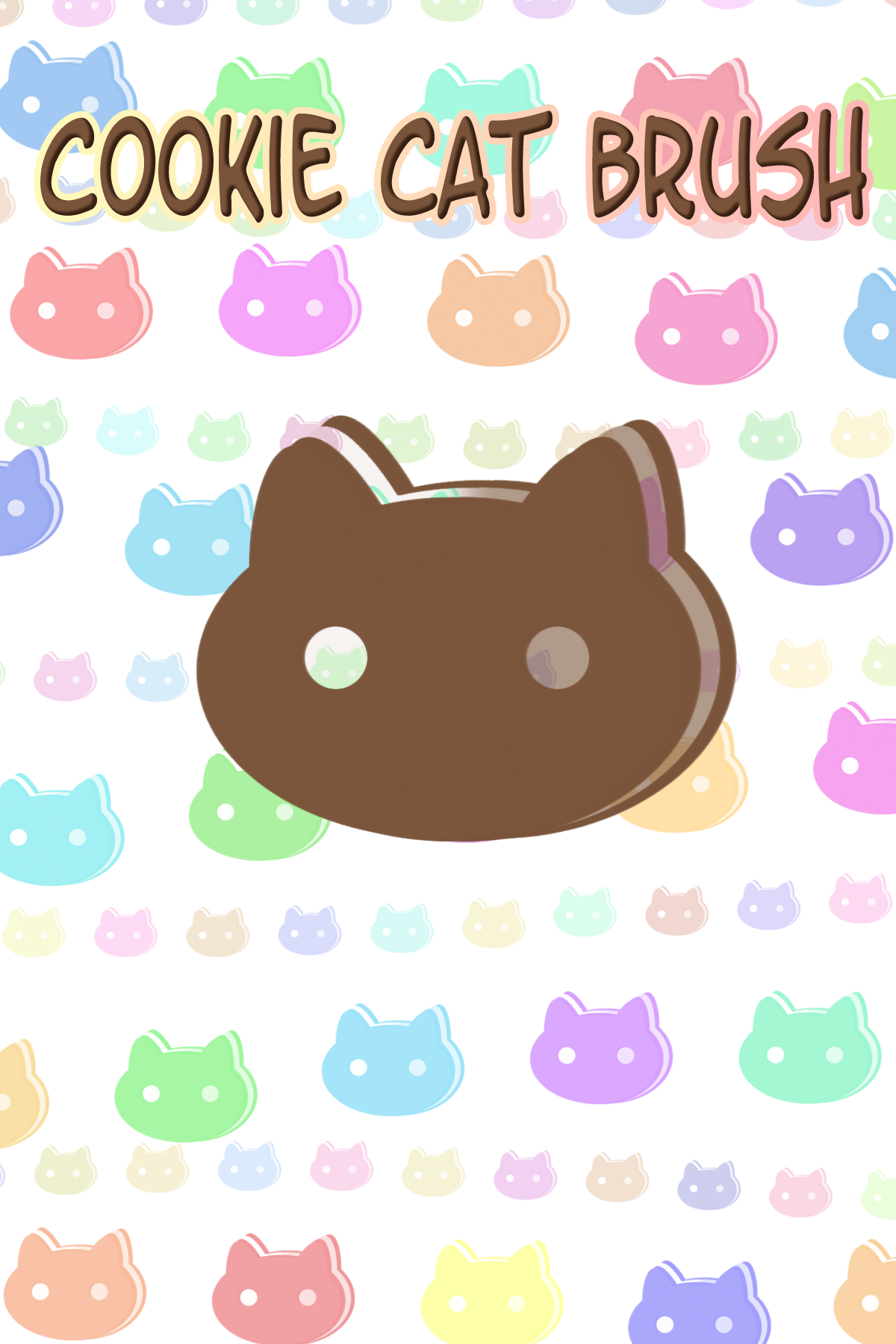 Cookie Cat BRUSH PS by Kafae-Latte
