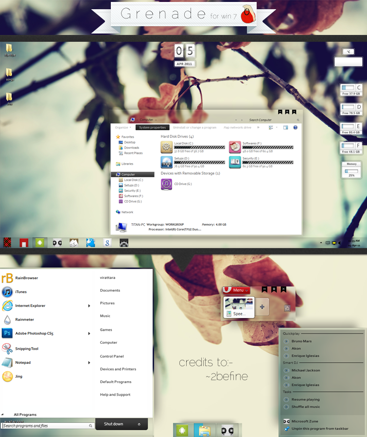 Smart themes for windows 7.