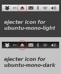 Ejecter Monochrome Icons