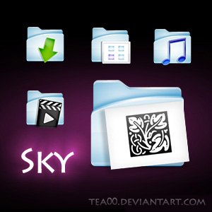 sky folder icons