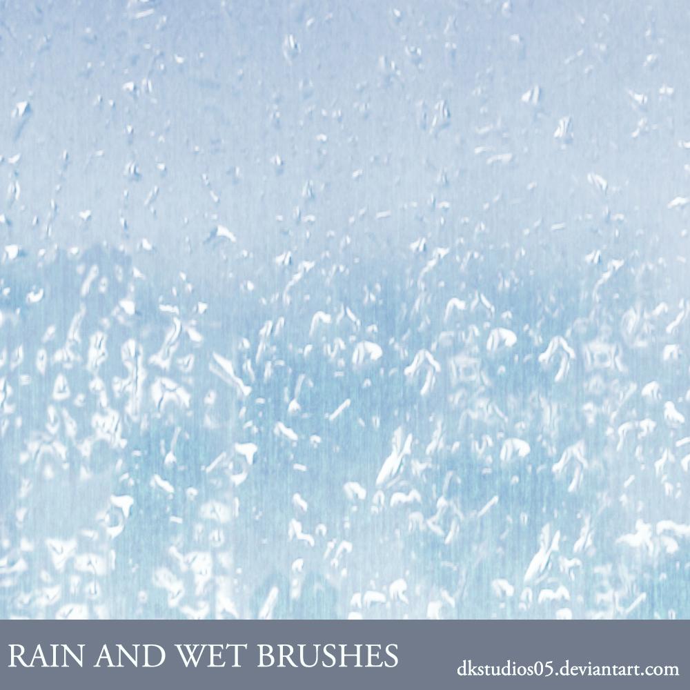 Rain and wet brushes