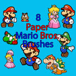 8 Paper Mario bros. Brushes