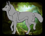 F2U Wolf Lineart