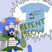 Repent Meow t-shirt design by CptNameless