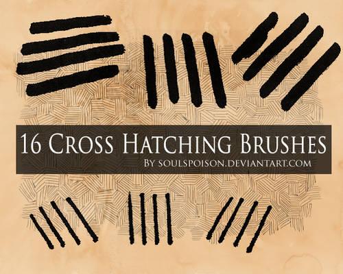 16 Crosshatching Brushes