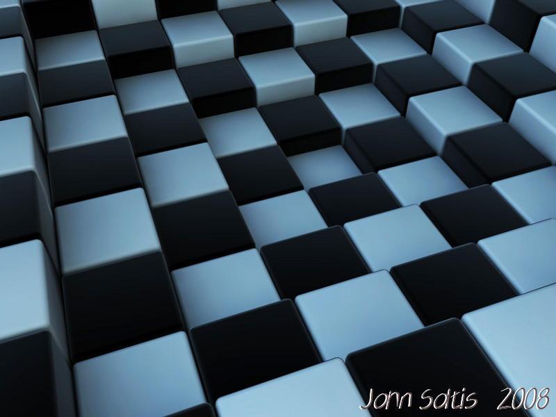 3d Checkerboard WallPaper By SoltisViolin