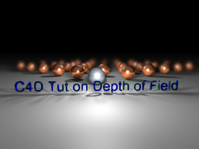 C4D Tutorial on Depth of Field by SoltisViolin