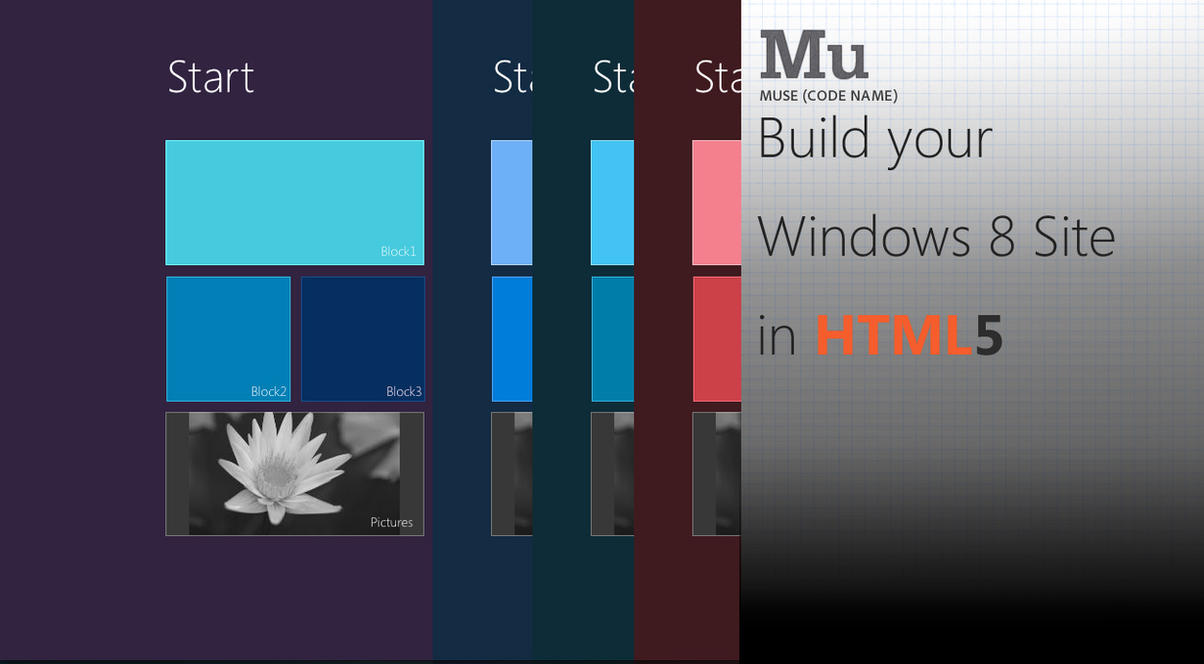 Windows 8 Muse Template by MetroUI