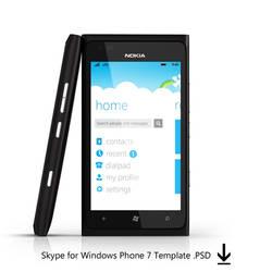 Skype TEMPLATE WP7 by MetroUI