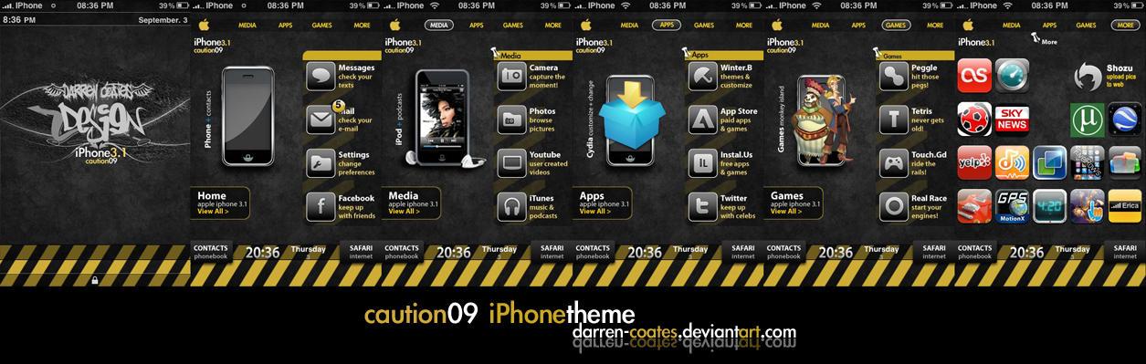 Caution09 iPhone Theme