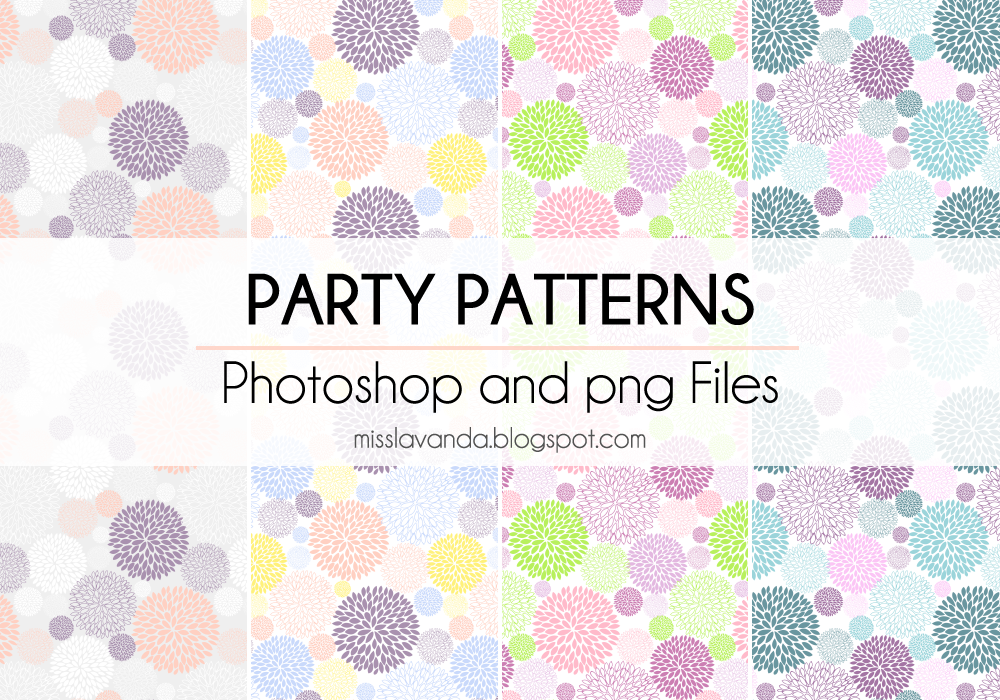 Party Patterns. Photoshop and png Files by MissLavanda