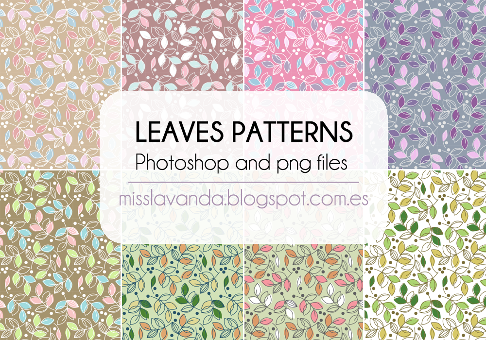Leaves Patterns. Photoshop and png Files by MissLavanda