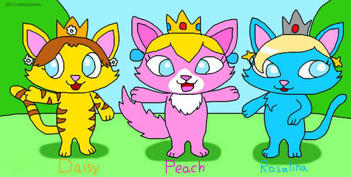 Mario Princesses as Cats