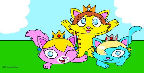 Crowned Cat Cuties Say Cheese!