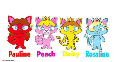 Mario Cat Princesses Lineup
