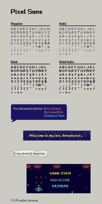 Pixel Sans