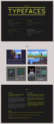 Pixel typefaces