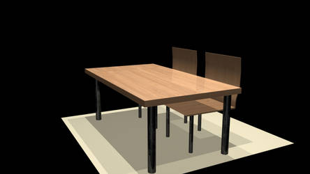 Chairs and table for Maya 3d