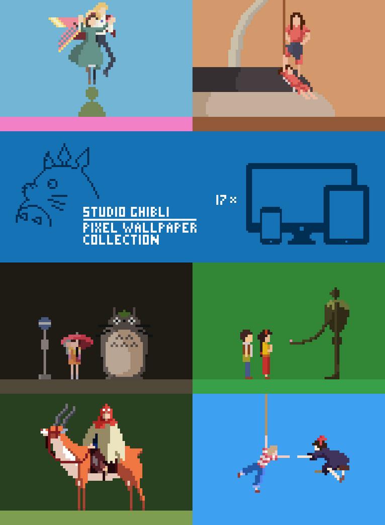 Ghibli Pixel Wallpaper Pack By Scuzy