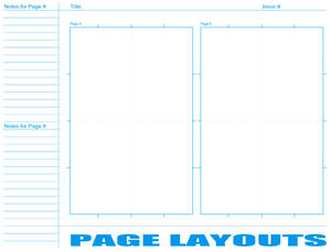 Comic Book Layout Page