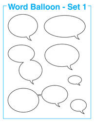 Comic Book Word Balloons Set 1