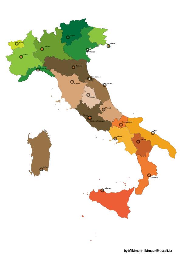 Italy Vector Map - Italia by mikima