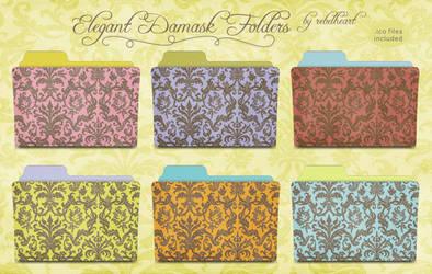 elegant damask folders by seven4soul