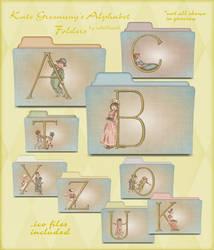 kate greenway alphabet folders