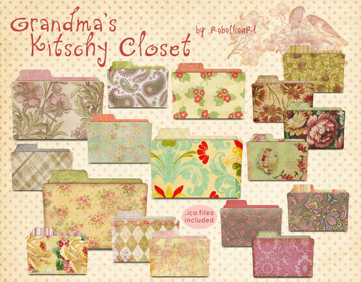 grandma's kitschy closet