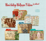 worn vintage wallpaper folders